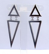 Metallic Dangler Earrings- CS104