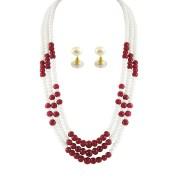 Sri Jagdamba Pearls-JDEC-0334-Mayur Pearl Necklace Set