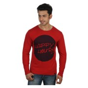 RIGO-CT10131033-Red Happy Hours All Day Tee-Full Sleeve