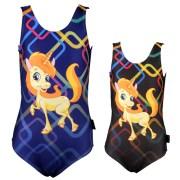 Veloz-VSS515-Girls Swimwear  V cut  Sublimation Print  Cute Unicorn