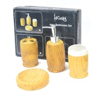 Lacuzini GEP-CRY-015 Wood Finish Bathroom Set 4 Pieces