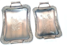 Lacuzini GEP-CRY-022 Copper Regular Serving Tray 2 Pieces