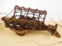 Rajasthan Art Wooden Fruit Basket 350