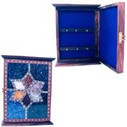Rajasthan Art  Tik wood Antique Gem Stone key Box