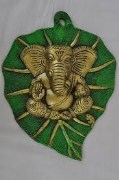 Rajasthan Art Metal Leaf Ganesh