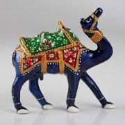Rajasthan Art  Meenakari Metal Camel