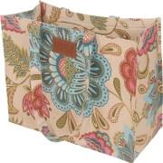 Bianca Grey &  Peacock Tote Bag