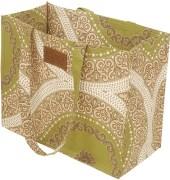 Bianca Green &  Brown Tote Bag