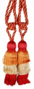Bianca Red & Orange S/2 Tie Back