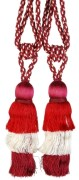 Bianca Red & Burg S/2 Tie Back