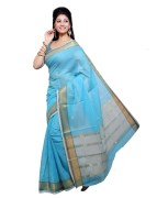 Ishin Prints Printed Cotton Saree With Blouse Piece