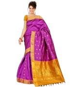 Minaxi Purple Dollar Cotton Saree