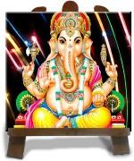 Tiedribbons Black And Yellow Ceramic Ganesh Ji Diwali Idol