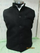 Green Channel Waist Coat For Men's