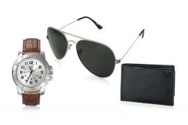 Rico Sordi fashion Leather watch,Sunglass & Wallet RSD42_WSGW