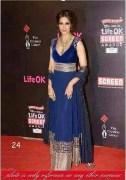 Clickingo Bipasa Basu Blue Bollywood Anarkali Dress