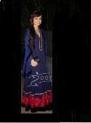 Clickingo Black Elegant Anarkali Style Dress