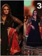 Clickingo Huma Qureshi Black Anarkali Dress