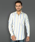 Outlaw White Striped Formal shirt