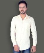 U.S. Polo Assn. Cream Cotton Formal Shirt