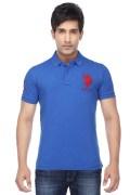 U.S. Polo Assn. Mens Cotton Plain Polo T-shirt