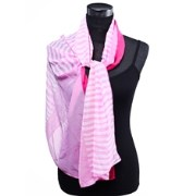 Dupatta Bazaar DB-0247 Pink Background Pink And White Lines Patter Stole