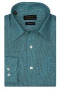 Zodiac-Mens Full Sleeves Regular Fit Birds Eye Design Formal Shirt