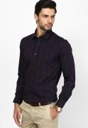 Black Coffee Check Formal Shirt