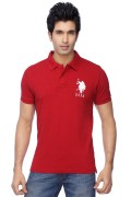 U.S. Polo Assn. Mens Half Sleeves Slim Fit Solid Polo T-Shirt