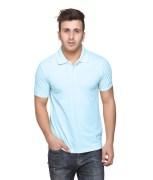 American Crew Polo Collar 100% Cotton Aquamarine Blue T-Shirt