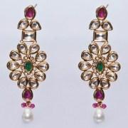 Kundan and Alloy Earrings