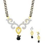 Spargz Kundan Jewelry Gold Plated Mangalsutra Set