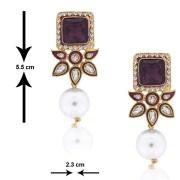 SpargzAIER 165 Dangling Kundan Fashion Pearl Earring