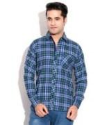 Blue Cotton Shirts For Men's