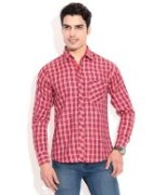 Red Casual Shirts For Men's