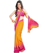 TopDeals Printed Faux Georgette Saree