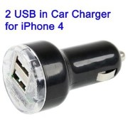 New 2 Double Dual USB Car Charger Mini Adapter 2.1a iPhone 4/3GS/3G iPad/Mobiles