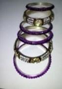 Stylish Stone Studded Bangles For Ladies