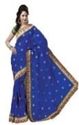 Blue Bhagalpuri Art Silk With Blouse Piece  STSA001-1001