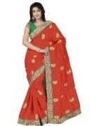 Orange Bhagalpuri Art Silk With Blouse Piece  STSA001-1003