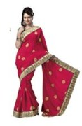 Red Bhagalpuri Art Silk With Blouse Piece  STSA001-1005