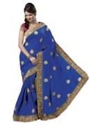 Blue Bhagalpuri Art Silk With Blouse Piece  STSA001-1006