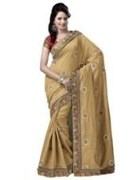 Beige Bhagalpuri Art Silk With Blouse Piece  STSA001-1007