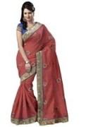 Orange Bhagalpuri Art Silk With Blouse Piece  STSA001-1008