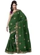 Green Bhagalpuri Art Silk With Blouse Piece  STSA001-1009