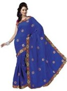 Blue Bhagalpuri Art Silk With Blouse Piece  STSA001-1010