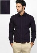 Black Coffee Checks Formal Shirt