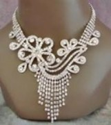 American Diamond Studded Necklace For Women