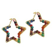 Stunning Star Shaped Beaded Earrings