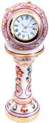 Little India Ethnic Design Marble Table Clock Handicraft -145 Showpiece Figurine